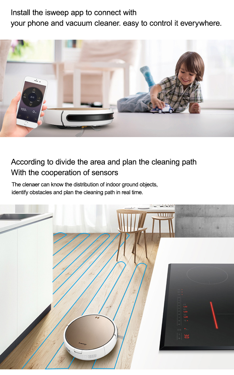 HTB1B8tyauL2gK0jSZPhq6yhvXXaH Isweep X3 Robot Vacuum Cleaner APP Control 1800 PA Wet and Dry Home Sweeper Auto Recharge EU Plug English Version Gift 2 Brush