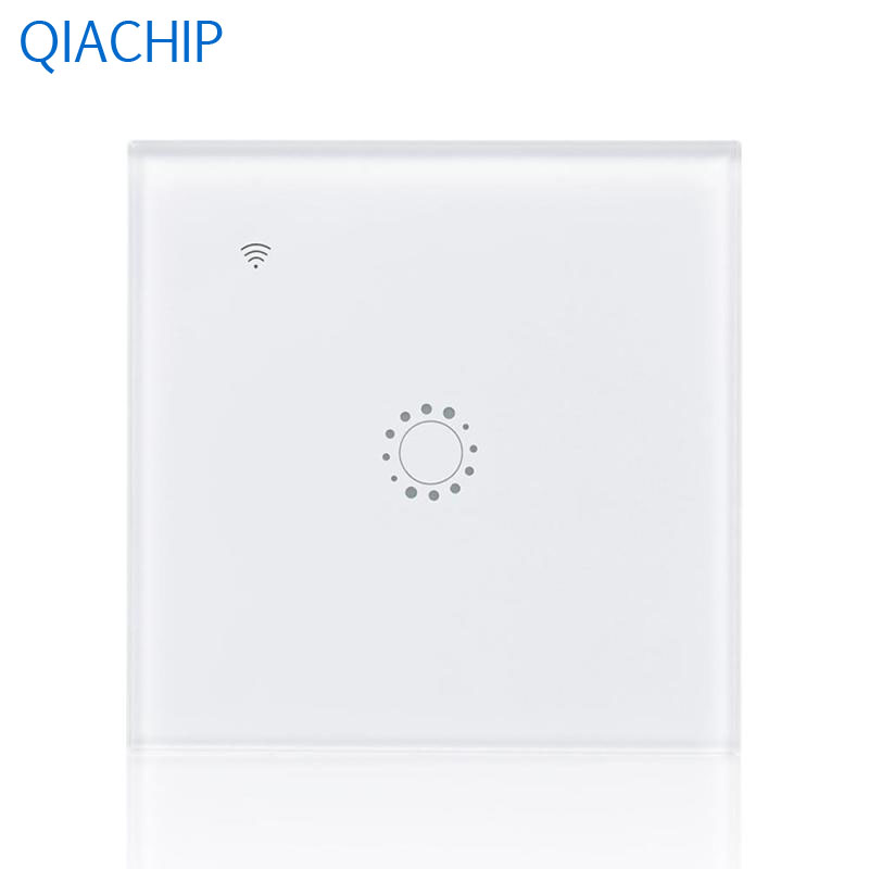 Touch Switch 1 Gang Light Wall Switch APP Remote Control Switch Kitchen Compatiable Alexa White Luxury Tempered Glass Panel EU 2017 smart home crystal glass panel wall switch wireless remote light switch us 1 gang wall light touch switch with controller
