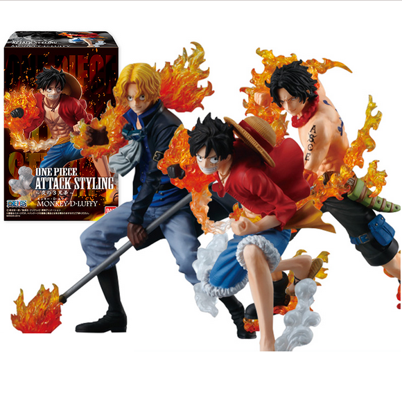 2017 new one piece Monkey D Luffy Portgas D Ace Sabo three brothers pvc action figure anime model kids toy juguetes hot sale