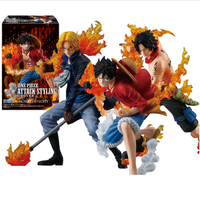 2018 new one piece Monkey D Luffy Portgas D Ace Sabo three brothers pvc action figure anime model kids toy juguetes hot sale