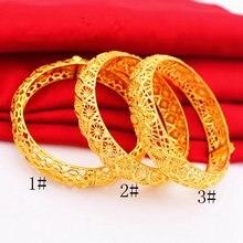 Новинка Свадебный женский браслет с желтым золотом Прямая поставка