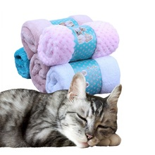 70x50cm Dog Bed Mats Soft Flannel Fleece Warm Pet Blanket Sleeping Beds Cover Mat For Small Medium Dogs Cats Random Color Send