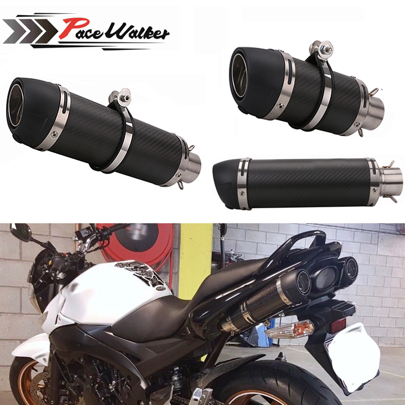 Motorcycle Exhaust Muffler Pipe Carbon Fiber Exhaust pipe for CBR 125 250 CB400 CB600 YZF FZ400 Z750 Cafe Racer Exhaust PipeMotorcycle Exhaust Muffler Pipe Carbon Fiber Exhaust pipe for CBR 125 250 CB400 CB600 YZF FZ400 Z750 Cafe Racer Exhaust Pipe