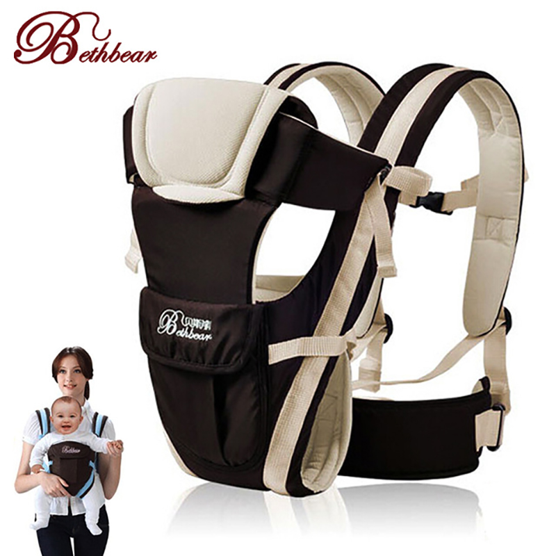 Baby Carrier Backpack 2-30 Months Baby Carrier Sling Ergonomic Breathable Front Facing Horizontal Baby Kangaroo Bag Infant Wrap
