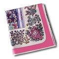 2016 mulheres de seda lenço quadrado 130 * 130 cm 100% seda pura lenços flor impresso marca de moda lenço grande de seda xales