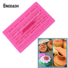 ENGDASH Cake Chocolate Mold Plastic Brick Modelling Cupcake Cookie Cutter Decorating Tools Fondant Gum Paste Baking