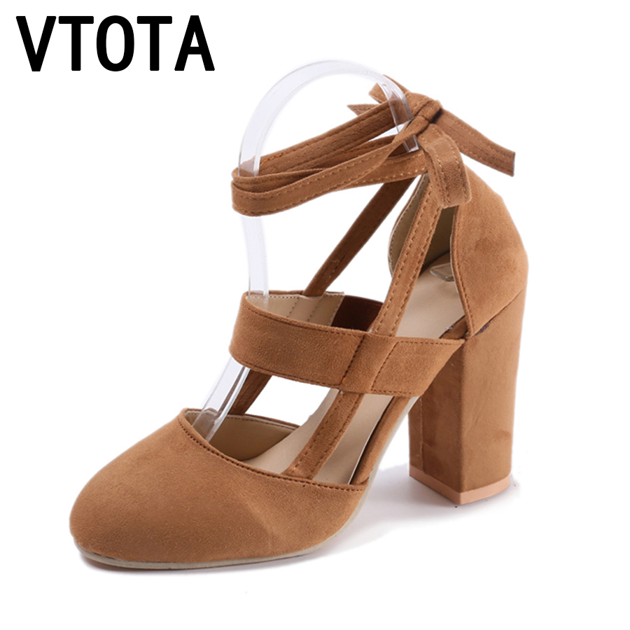 VTOTA High Heel Shoes Women Sandals High Heels Pumps Lace-Up Summer Wedding Shoes sandalias mujer Gladiator Sandals Women D20 sandals women genuine leather lace up ankle wrap 2017 summer shoes woman gladiator sandal flat wedding shoes sandalias mujer
