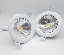 Free Shipping  COB Waterproof Led Downlight 20W Recessed Down Light 15W Ceiling Bethroom Lamp + Driver Warranty 3 years