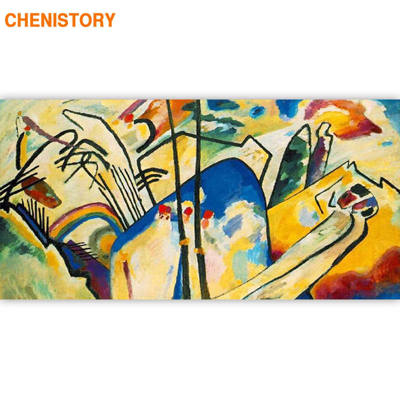 CHENISTORY Frame Famous Picture DIY Painting By Numbers Abstract Acrylic Canvas Painting For Living Room Home Decoration 60x120