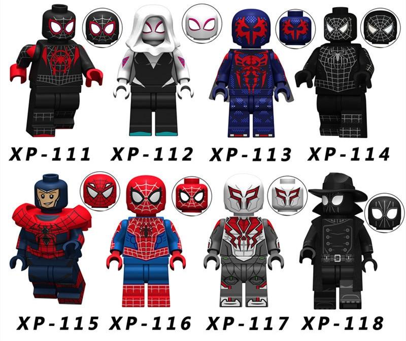 80PCS e Marvel Action Figure Super Heroes Ultimate Spider Man Noir Gwen Spiderman Building Blocks Toys for Children KT1016-in Blocks from Toys & Hobbies    1