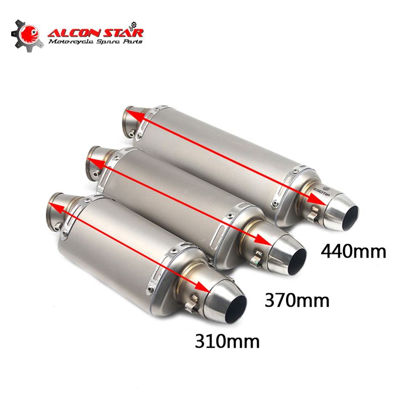 Alconstar- 51mm Universal Motorcycle Exhaust Akrapovic Dirt Pit bike Exhaust Escape Modified GY6 Scooter Yoshimura Muffler R1 R3 51mm 61mm inlet motorcycle slip on exhaust escape moto stainless steel racing bike exhaust 600cc gy6 scooter dirt pit bike sc016