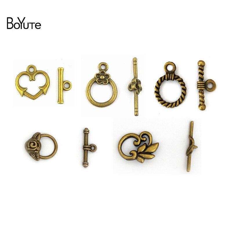 Motiviert Boyute (50 Sätze/los) Metall Zink Legierung Vintage Toggle-haken Diy Schmuck Zubehör Teile 100% Hochwertige Materialien