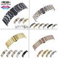 Aotu relógio pulseira de aço inoxidável 316l 15/16/17/18/19/20/21/22/23/mm butterfly fivela faixas de relógio cinta para todos adequado + ferramentas