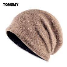a46c53c2e8d6b TQMSMY Osso Unisex malha chapéus para homens gorro de inverno tecido de  pelúcia turbante Cap balaclava skullies tampas mulheres .