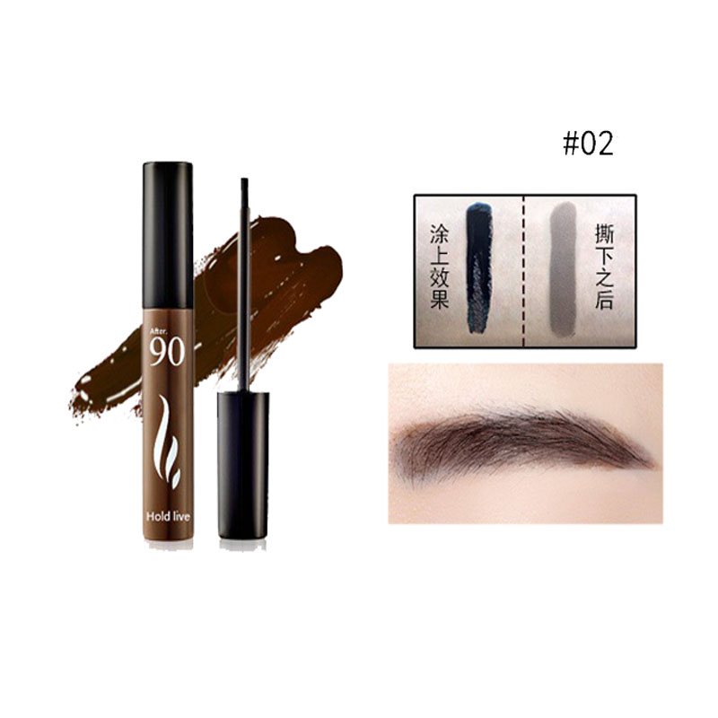 8g Tear Pull Eyebrows 3 Colors Brown Linen Gray Waterproof Lasting Natural Makeup For Eyebrows Stained Hair Dye