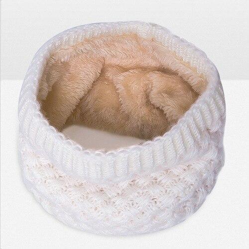 Зимний шарф для женщин, мужчин, детей, утолщенный шерстяной воротник, шарфы для девочек, шейный шарф, хлопок, унисекс, вязаный шарф-кольцо - Цвет: B