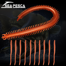 SEAPESCA Artificiell Centipede Silikonbete 1.8g13.8cm Lifelike Tentacle Worms Sea Earthworms Mjukt bete vev Fiske Lures ZB6