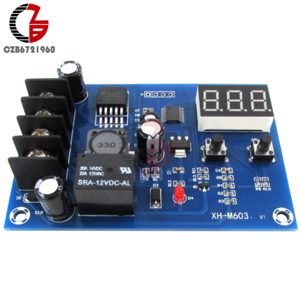 DC12-24V XH-M603 Digital Charging Control Borad Module Storage Lithium Battery Charger Control Switch With Start/Stop Protection