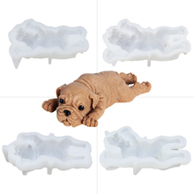 3D Stereo Sandpiper Mousse Cake Molds Pudding Mold Cute Dog Silicone Mould Ice Cream Fondant Decoration