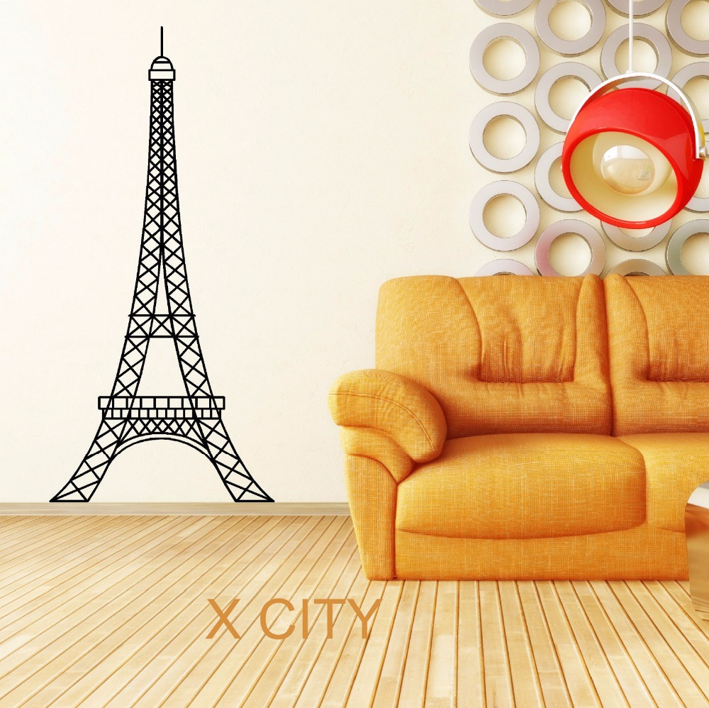Eiffel Tower Paris Landmark Scenery Wall Sticker Vinyl Art Decal ...