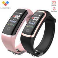 Pulsera inteligente Lerbyee M4 Monitor de ritmo cardíaco Bluetooth rastreador de Fitness reloj recordatorio de llamadas de calorías banda inteligente para correr deporte