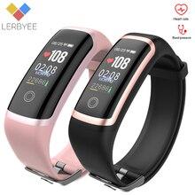 Lerbyee M4スマートブレスレット心拍数モニターのbluetoothフィットネストラッカー腕時計カロリーコールリマインダスマートバンドランニングスポーツ