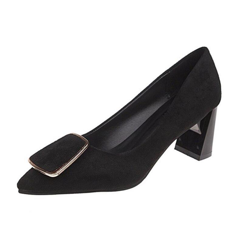 Ho Heave femmes confortables nouveau Style pompes chaussures femmes chaussures de mode à talons hauts bout pointu pompes bureau chaussures antidérapantes dame