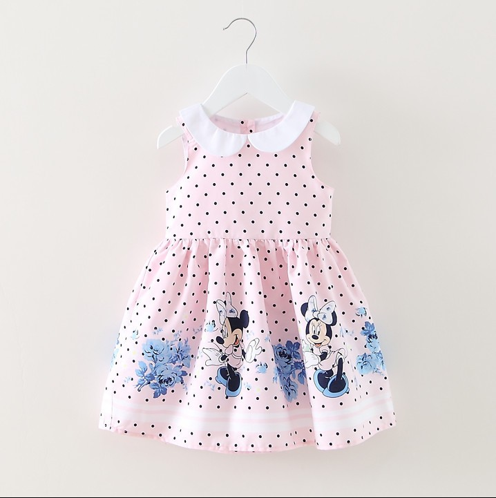 -2015-New-Girls-Dress-Summer-New-Minnie-Mouse-Dot-Children-Clothing-Baby-Kids-Cute-Clothes