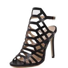 Summer Women High Heels Roman-style Sandals hollow European and American Brands Stiletto Heel Party Shoes Stiletto Pumps