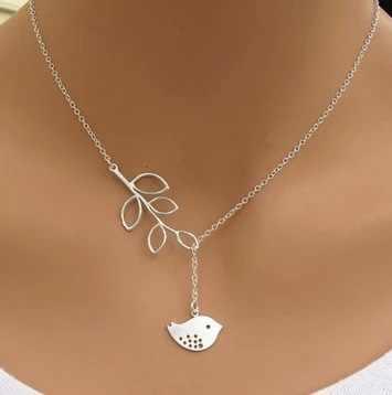 2017 coréen mode bijoux alliage lames oiseaux pendentif clavicule chaîne collier en gros