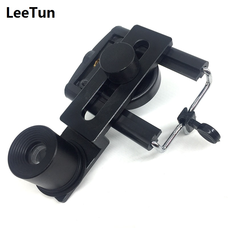10X Microscope Eyepiece Mount Adapter Diameter 23.2mm 30mm 30.5mm Lens Interface Mobile Phone Holder Take Send Save Photo Video