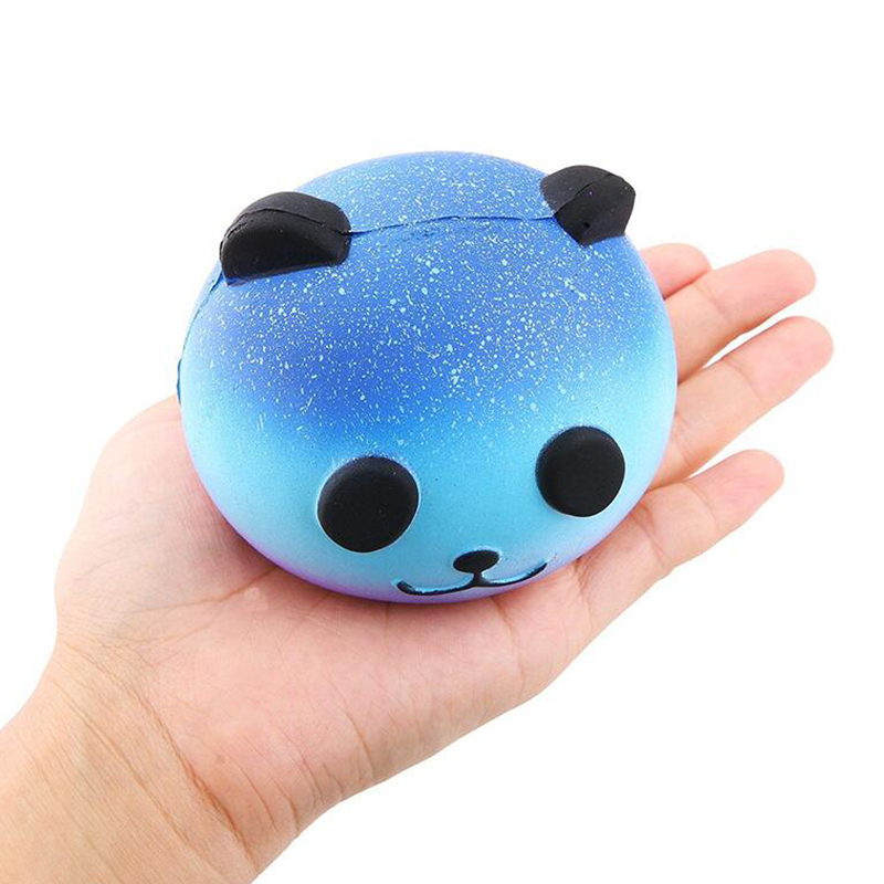 Cute Blue Panda Cream Scented Squishy Slow Rising Squeeze Kid Toy Phone Charm Gift Stress Stretch Antistress PU Bread Kids Toys
