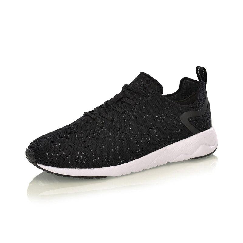Li-ning hommes chaussures de Sport de loisirs chiné Mono fil portable anti-dérapant doublure chaussures de Sport baskets respirantes AGCM055 YXB076 - 2