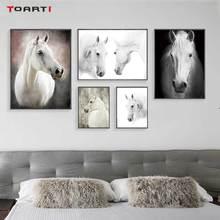 HD 北欧動物ポスタープリント現代の馬キャンバス絵画リビングルームのベッドルームのために壁に黒アート写真