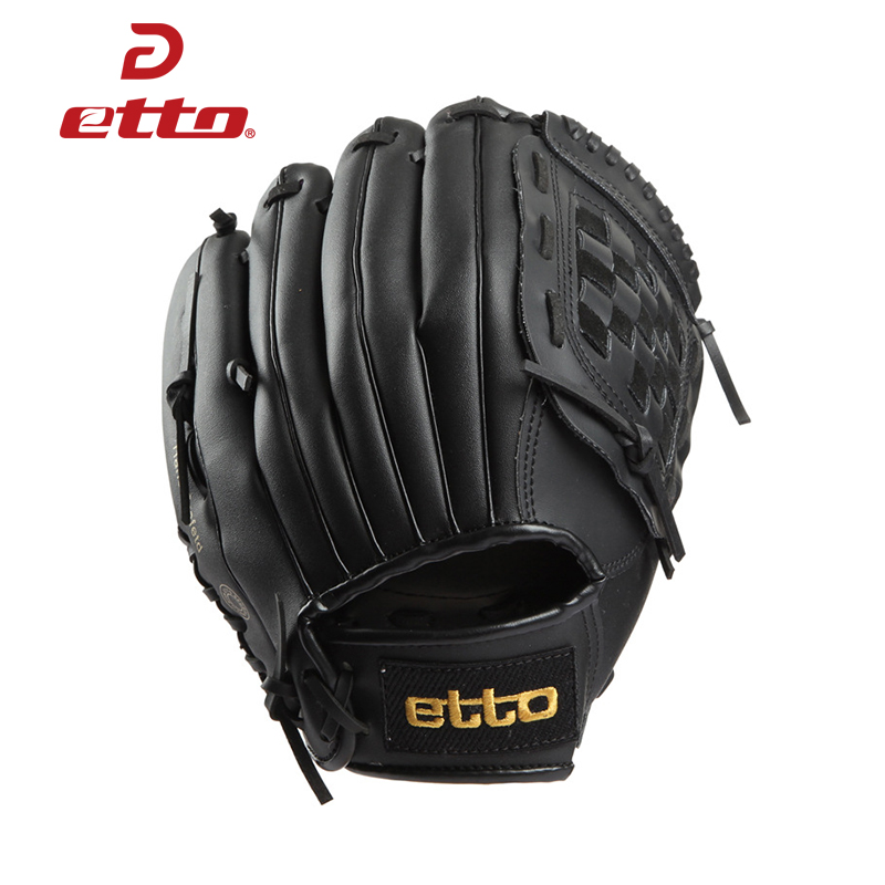 все цены на  Etto High Quality Pu Leather Baseball Glove Left Hand 11.5/12.5 Inch Baseball Softball Training Gloves Guantes Beisbol HOB008  онлайн