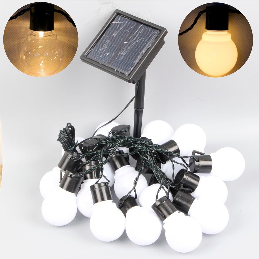 Aliexpress.com : Buy 8m 20 leds solar lamp led globe string light solar light fairy ball garland ...