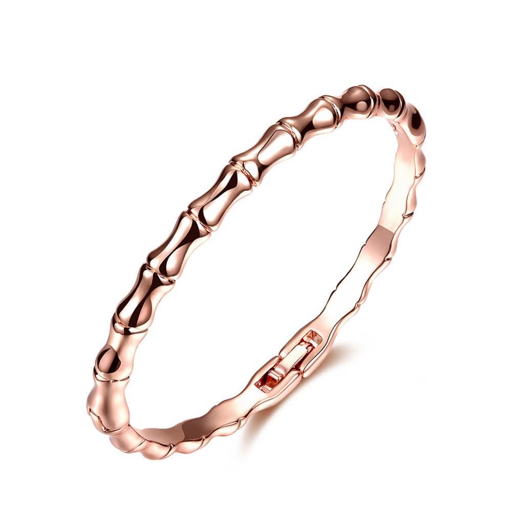 Bamboo Styled Gold Bracelet