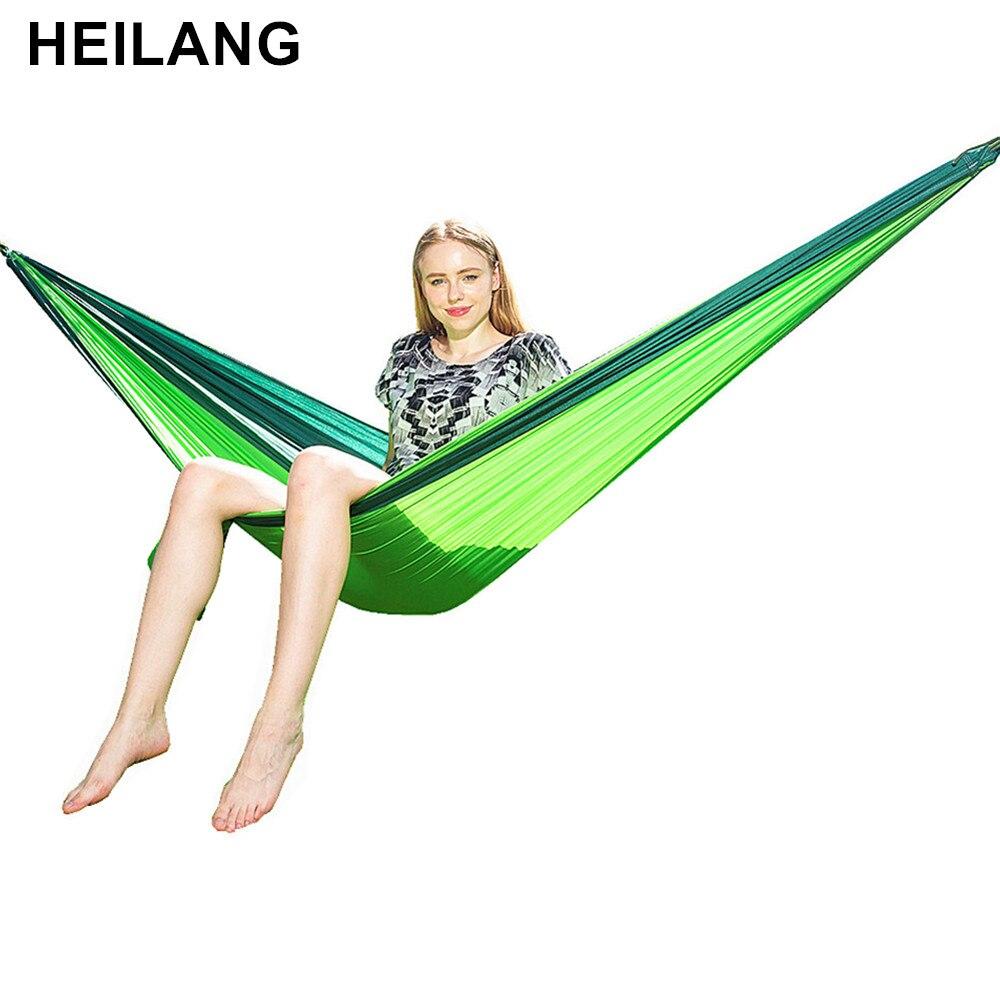 270*140cm 2 People Portable Parachute Hammock Camping Survival Garden Hunting Leisure Hamac Travel Double Person Hamak