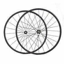Carbon Ultra Light 20mm Tubular Carbon Wheelset 700c Road Bike Carbon Wheels 24mm clincher Powerway Hub Ti QR
