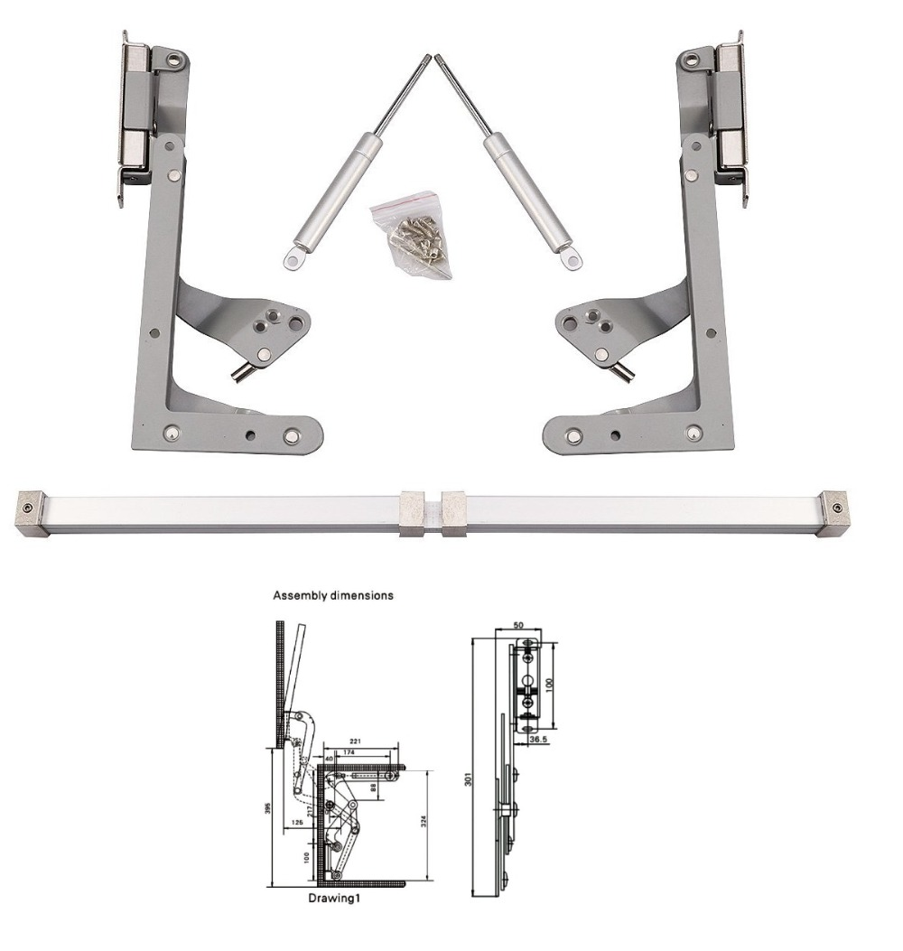 Meilleur mécanisme de levage support balançoire verticale ascenseur séjour pneumatique cuisine charnière gaz support micro-ondes panneau avant