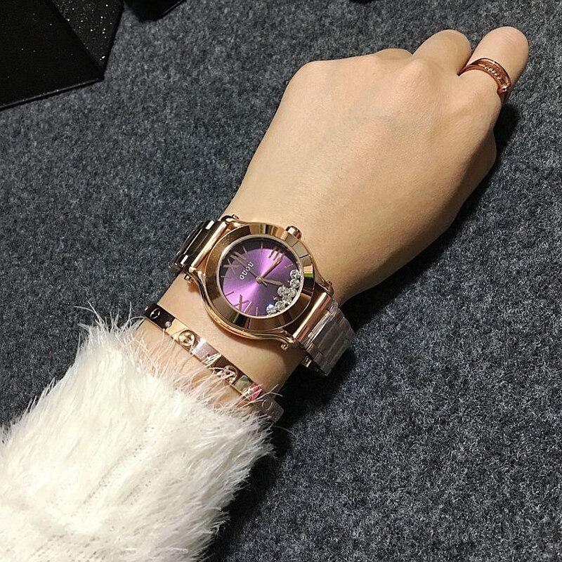 Wristwatches Quartz-Watches  Waterproof Women's Watches Fashion Stainless Steel Band High-Grade Quicksand Diamond