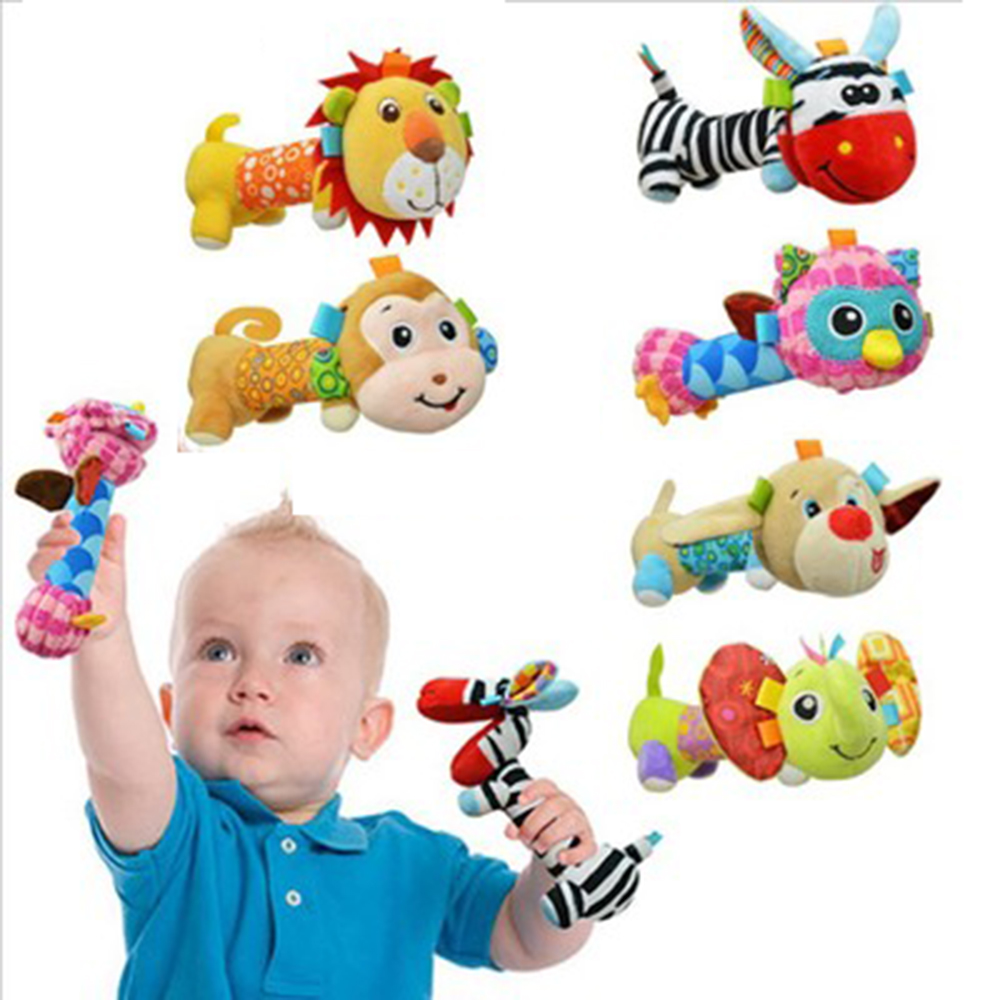 Toys For 6 : Animal hanging toys for newborns soft baby hand bed bells