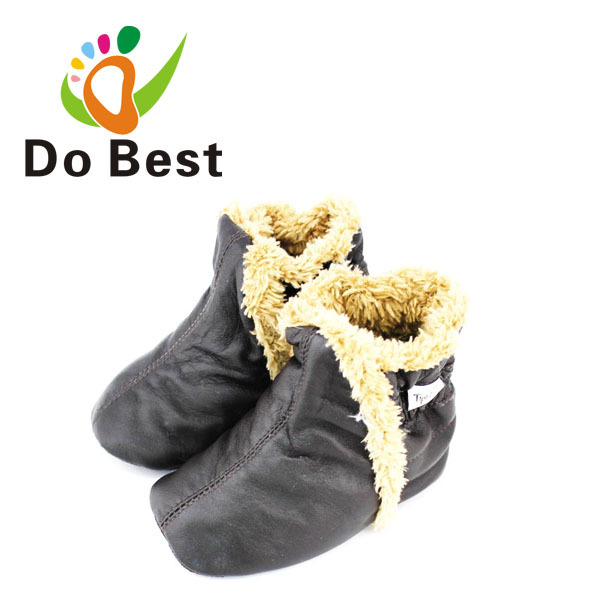 Dobest Brand Soft Plush Genuine Leather Baby Kids Toddler Shoes Moccasins For Boys First Walkers New 2016 Autumn Winter Fashion