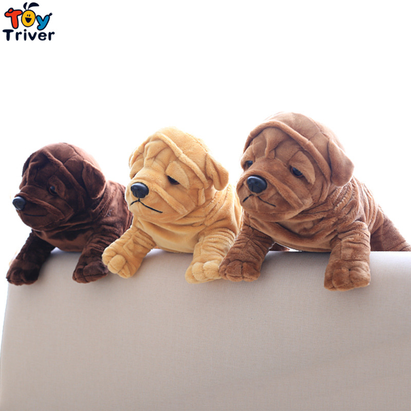 Bulldog Shar Pei Dog Plush Toy Triver Stuffed Animal Doll Baby Kids Boy Girl Birthday Gift Present Home Car Decor Drop Shipping