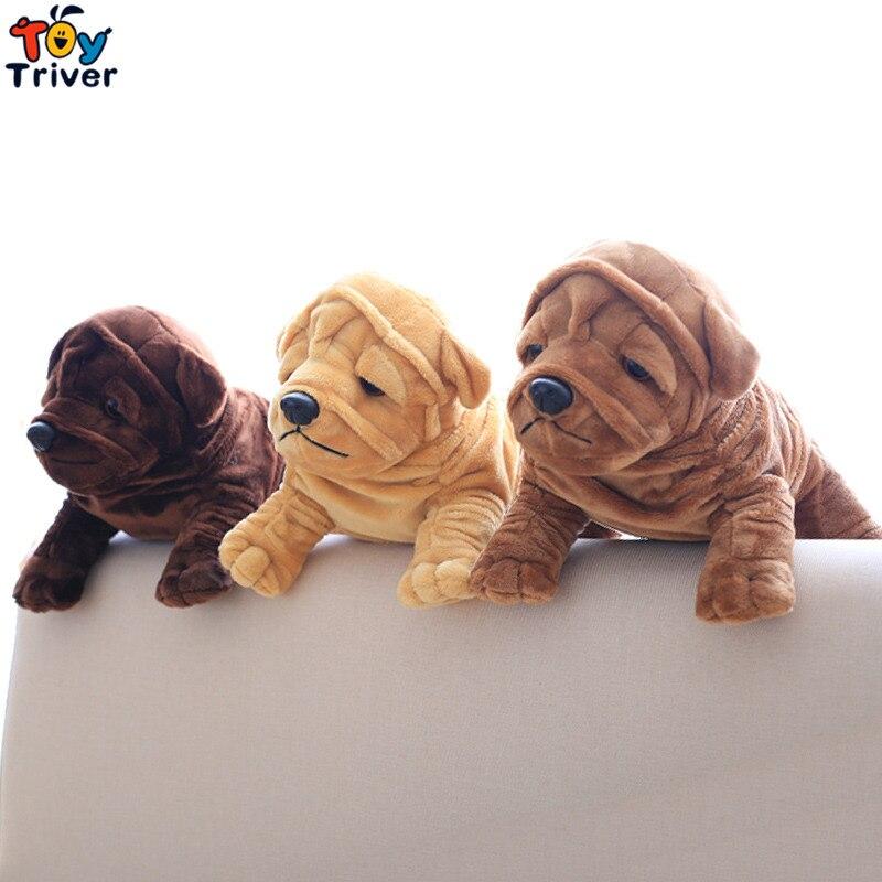 Bulldog Shar Pei Dog Plush Toy Triver Stuffed Animal Doll Baby Kids Boy Girl Birthday Gift Present Home Car Decor Drop Shipping