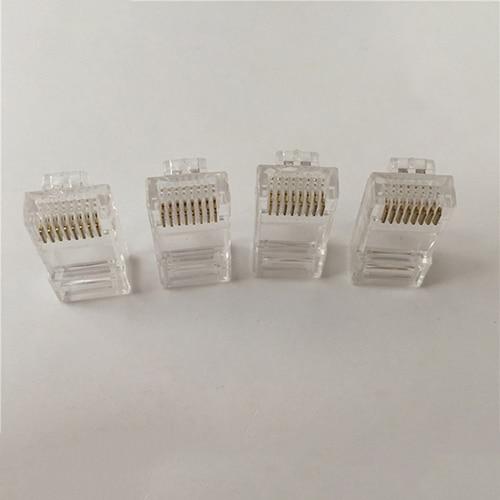 100Pcs Clear RJ45 8P8C Cat5 Modular Plug Ethernet Network Cable Head Connector imc hot 10 pcs rj45 8p8c double ports female plug telephone connector