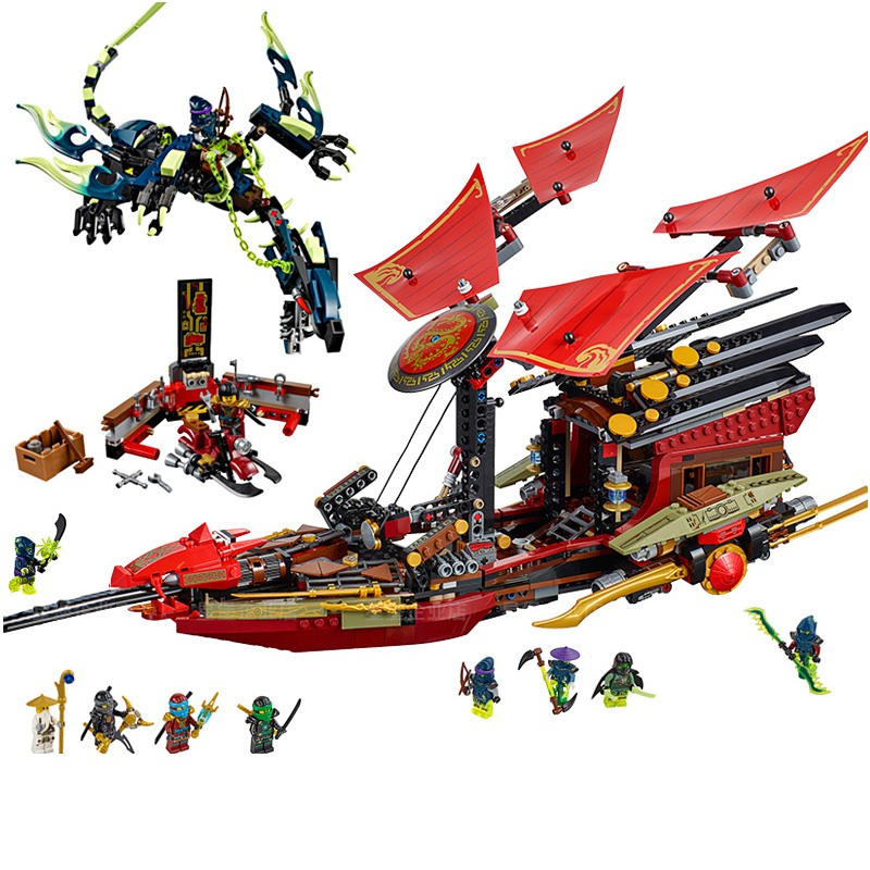 Lepin 06020 The Final Flight of Destiny's Bounty 1325Pcs Ninjagoing Building Blocks Toys For Children Compatible Legoing 70738 lepin 06020 final flight of destiny s bounty 1325pcs ninja building blocks toys for children gifts compatible legoinglys 70738