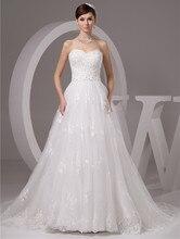 2016 белый / слоновая кость люкс Vestido де Noiva халат де Mariage свадебные линии тюль кружева аппликация свадебные платья Casamento ю . н . 9503