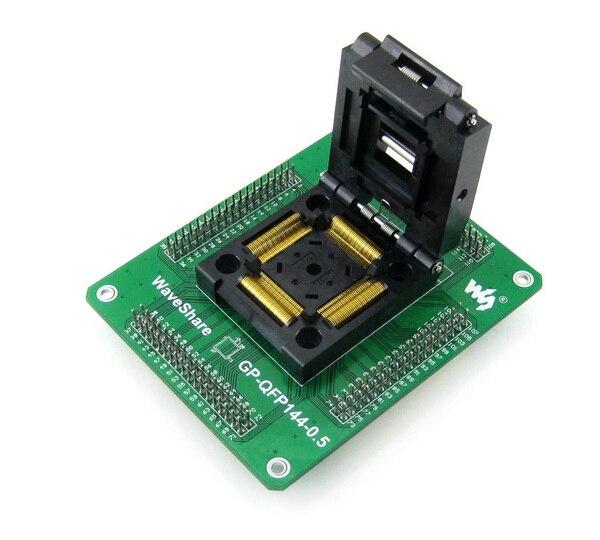 QFP144 TQFP144 LQFP144 GP QFP144 0.5 山一電機 IC テストソケットプログラミングアダプタ 0.5 ミリメートルピッチ + 送料無料  グループ上の パソコン & オフィス からの デモボード の中 1