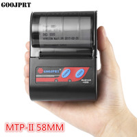 GOOJPRT MTP II 58MM Bluetooth Thermal Printer Portable Wireless Receipt Machine for Windows Android iOS